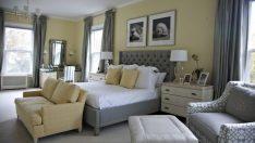 Karizmatik Gri ve Sarı Yatak Odası Modelleri ve Renk Düzenleri