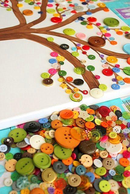 Düğmelerle Yapılan Ev Dekorasyon Örnekleri