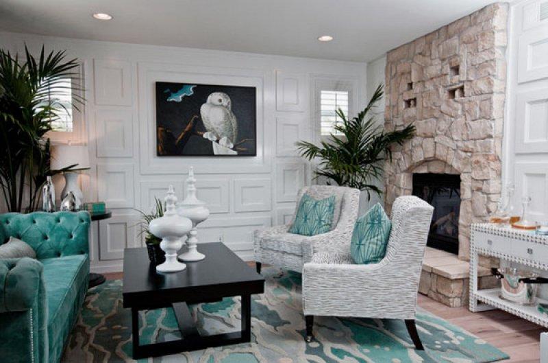 Salon İçin Şık ve Modern Taş Duvar Dekorasyon Örnekleri