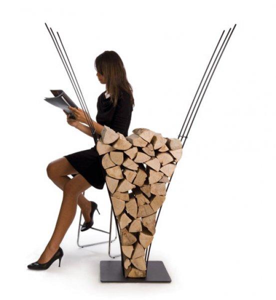 Şömineli Evler İçin Dekoratif Odun Dolapları - Ev Dekorasyon